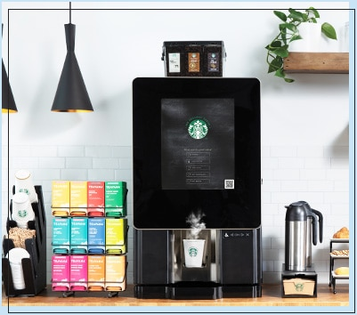 Integrate quality amenity coffee and other in-demand beverages seamlessly into break rooms or micromarkets