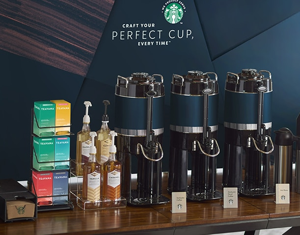 starbucks self-serve - Flexible inline serving options