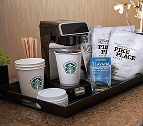 Hotel coffee pods
